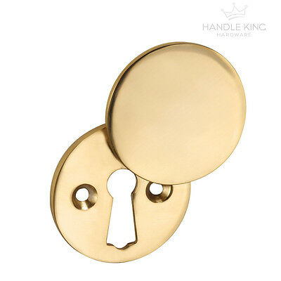 Keyhole Cover Plate Escutcheon for Mortice Lock Keyhole Cover with Brass Finish