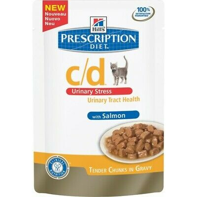 HILL S prescription diet c/d feline urinary stress mangime umido salmone 12x85g