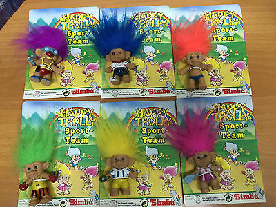 6x blister pequeños small troll  buena suerte good luck simba new old stock