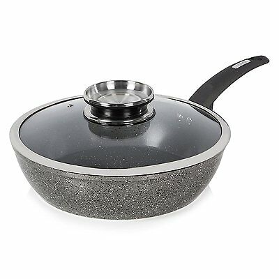 Tower T81202 28cm Forged Aluminium Ceramic Coated Saute Pan with Lid - Brand New