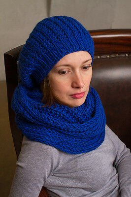 Hat and cowl knit, cowls scarf hats set, infinity scarves, handmade, beanie hats