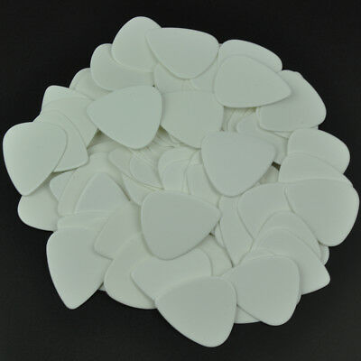 100 pcs New Blank Heavy 0.96mm Guitar Picks Celluloid Solid White