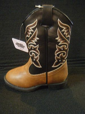 Cowboy Boots Smoky Mountain Children's Brown & Black Light Up in Various Sizes