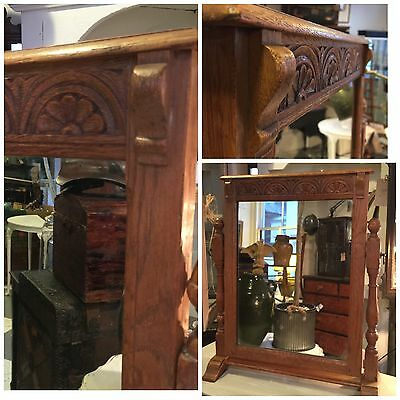Arts And Crafts Oak Toilet Swing Mirror Cotswold School Style dressing table
