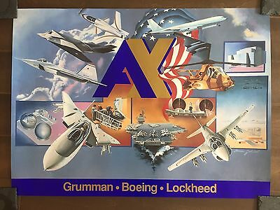 Glossy IN COLOR Grumman-Boeing-Lockheed Poster-circa 1990s