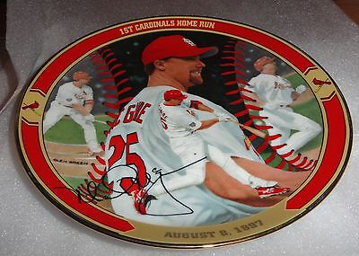 Bradford Exchange Mark Mcgwire Macs 1St Cardinals Home Run Plate (Proof)