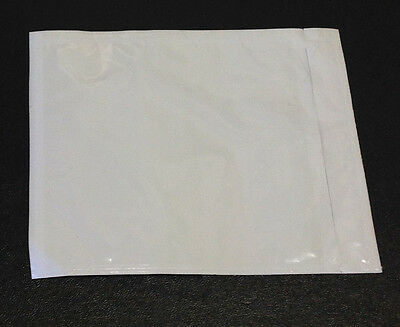 "(500) Clear Packing List Invoice Envelopes 4.5"" x 5.5"" Self Adhesive 2.0mil NEW"