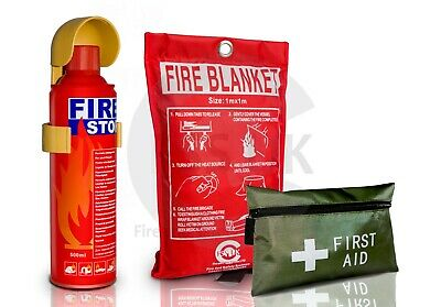 Fss Uk 1Kg Dry Abc Powder Fire Extinguisher Home Office Car Kitchen