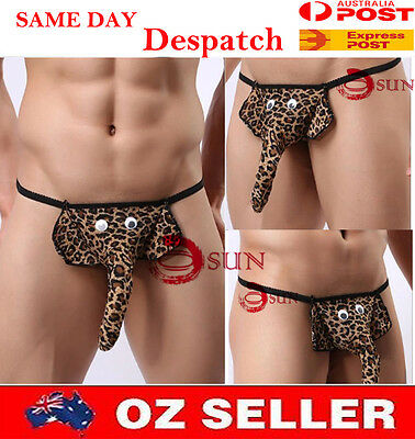 Sexy Men Male's Elephant G-string Underwear Thong Briefs T-Back Panties Lingerie