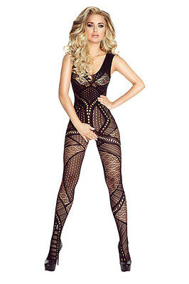 """Provocative! Schwarzer Cut Out Body Stocking Offen """"PR4692"""" Gr. S/M"""