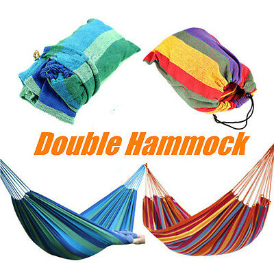 Large Cotton Canvas Fabric Hammock Air Chair Hanging Swinging Camping Outdoor AU