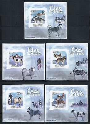 GUINEE GUINEA BISSAU 2009 BLOCK SET MiNr: 4456 - 60 ** IMPERF HUNDE DOGS CHIENS