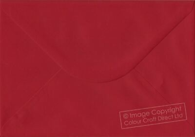 4.48 x 6.37 inches 25 x C6 A6 Vibrant Scarlet Red 100gsm Quality Envelopes