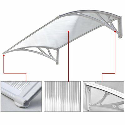 1200mm x 800mm WHITE FRONT/BACK DOOR CANOPY SHADE SMOKE SHELTER HOUSE/CARAVAN