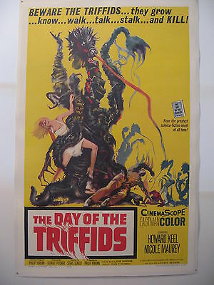THE DAY OF THE TRIFFIDS - original film / movie poster