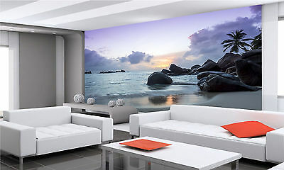 Sunset on Tropical Beach Wall Mural Photo Wallpaper GIANT DECOR Paper Poster