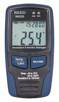 REED R6030 Wall Mount Humidity/Temperature (°F or °C) LCD Datalogger