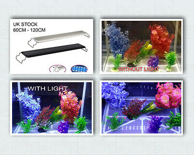 Aquarium Fish Tank Over Head LED SMD Lamp Light White + Blue UK PLUG FREE DEL