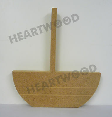 //BLANK CRAFT//DECORATION 180mm//148mm//118mm x 18mm thick BOAT SHAPE TRIO IN MDF
