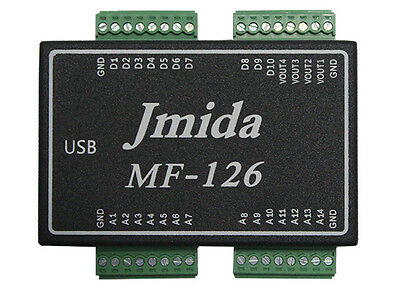USB DAQ MF126 DATA ACQUISITION 14AI 4AO 10DIO PWM CNT and Free Software &Driver