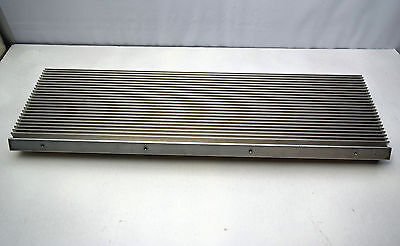 """Large Power Amp Heat Sink 5½lbs Aluminum 22"""" x 7"""" Extruded in"""