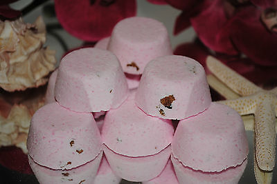 PASSIONFRUIT & ROSE Aromatherapy Bath Bombs with Coconut Oil GIFT PACK OF 10