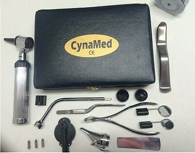NEW Otoscope Ophthalmoscope Set ENT Medical Instruments  CynaMed +3 bulb Free