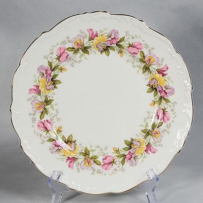 "Set Of 4 Coalport ""marilyn"" Dinner Plates - 10-5/8"" Diameter White/ Sweet Peas"