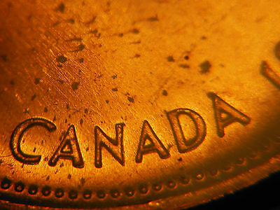 """1967 One Cent *** DOUBLE """"CANADA 1867"""" *** UNC"""