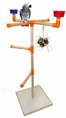 Parrot Perch Pet Bird Perch Play Stand Play Gym Perch with Base Medium