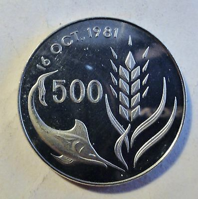 Zypern / Cyprus - 500 Mils 1981 - World Food Day - FAO - stgl-PP /unc (1804