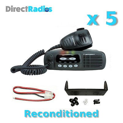 MOTOROLA GM340 VHF 136 - 174 Mhz TAXI MOBILE TWO WAY RADIOS x 5