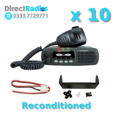 MOTOROLA GM340 VHF TAXI MOBILE TWO WAY RADIOS x 10