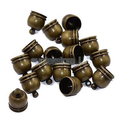 10pcs Brass Bell End Bead Cap Tip Jewelry Findings Craft DIY Making Bronze
