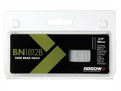 BN1812B Head Brad/ Nails 20mm Brown Pack 2000  - ARRBN1812B