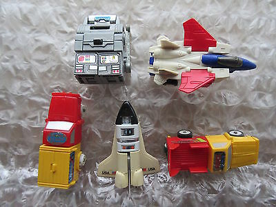 5 Old Vintage Transforming Robot Action Figure Toys