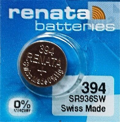 394 RENATA WATCH BATTERIES SR936SW New packaging Authorized Seller