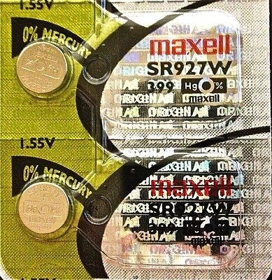 399 MAXELL WATCH BATTERIES SR927W (2 piece) SR57 D399 SR927 New AuthorizedSeller