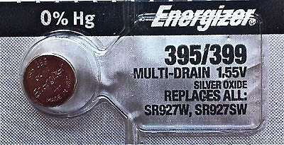 ENERGIZER 395/399 WATCH BATTERIES SR927SW Sealed Authorized Seller