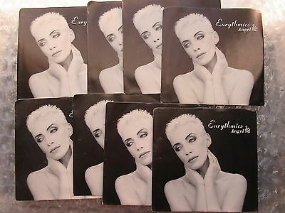 Eight Old 1989 Eurythmics Angel 45 rpm Singles Records Unused