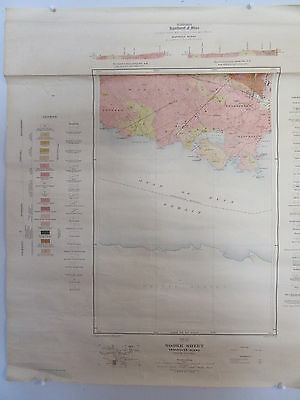 Old 1918 Map Canada Department of Mines Sooke Sheet Vancouver BC
