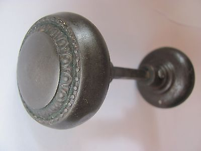 Set of HEAVY Antique EGG and DART Door Knobs - Good Working Condition