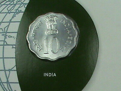 INDIA  10 paise  1979  UNC  Coins  of  all  Nations  *perfect  condition*