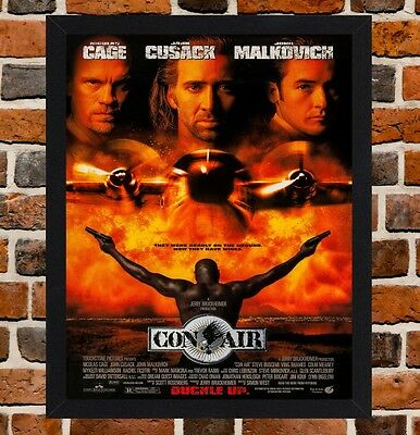 Framed Gone in Sixty Seconds Movie Poster A4 / A3 Size In Black / White Frame