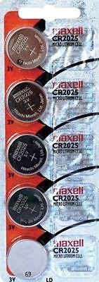 CR 2025 MAXELL LITHIUM BATTERIES (5 piece) 3V watch New Authorized Seller