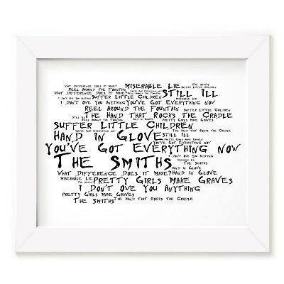 `Noir Paranoiac` THE SMITHS Art Print Typography Album Song Lyrics Signed Poster