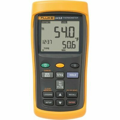 Fluke 54-2-B Dual Input Digital Thermocouple Thermometer with Data Logging