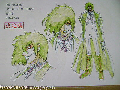 Hellsing Ova Anime Production Art Settei Sheets
