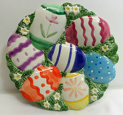 Fitz and Floyd Easter Egg Decorative Plate Hand Crafted