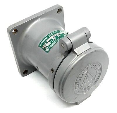 Appleton Adr1034 3-Wire 4-Pole 100-Amp Receptacle